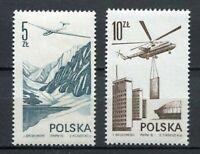 36062) Poland 1976 MNH Air Mail - Contemporary Aviation 2v