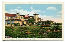 Texas A&M University College of Arts & Industries Kingsville TX linen postcard