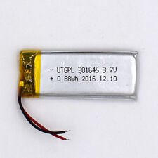 3.7 V Li-Polymer Rechargeable Battery Li-ion LiPo Cell for GPS 200mAh 301645