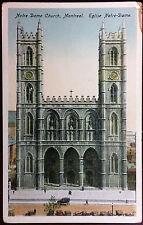 1920's Postcard Notre Dame Church Montreal Canada