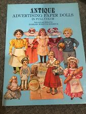 Vintage Paper Doll Book - Antique Advertising - In Full Color Uncut