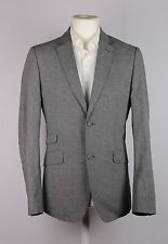 HOLLAND ESQUIRE BLAZER MEDIUM JACKET LINEN COTTON GREY DOG TOOTH DESIGNER MEN