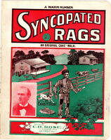 A Warm Number Syncopated Rags An Original Cake Walk 1901  vintage sheet music