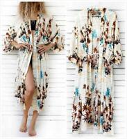 AU SELLER Oversize Cotton Kaftan Cardigan Long Top Beach Kimono Cover Up sw089-4