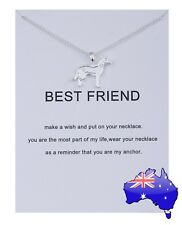 Dogeared Silver Dog BEST FRIEND Friendship Wish Pendant Necklace Women's Gift