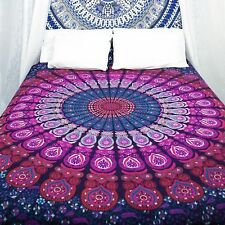 Doble Mandala De India Colcha Tapiz Decoración Pared Hippie bohemio Manta Étnica