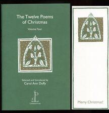 Carol Ann Duffy - The Twelve Poems of Christmas: Volume Four; SIGNED