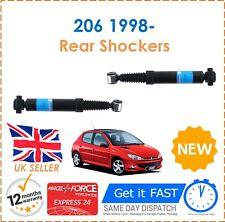 For Peugeot 206 1998- Rear Shock Absorbers Set x2 Shockers Dampers Pair New