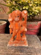 Antique Marble Stone Hand Carved Hindu God Hanuman Hill In Hand  Figurine