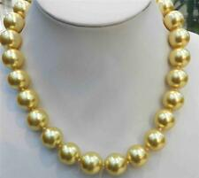 "16mm Golden South Sea Shell Pearl Necklace 18"" AAA+"
