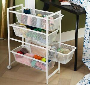 New IKEA JONAXEL Storage System Frame Wire Basket And Top Shelf 2 Sizes, white