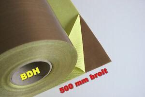 PTFE Glasgewebe Klebefolie Anti-Haft B=500 mm 0.13 Folie Teflon® selbstklebend