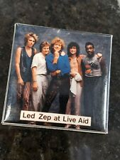 Vintage LED Zep ZEPPELIN  at LIVE AID ..RARE Lapel pin badge 2x2 inch