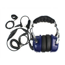 Blue 2-Pin PTT VOX Soundproof Earphone Headset for KENWOOD BAOFENG UV5R 888S New