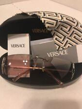 VERSACE womens sunglasses Rose /Silver w/case & certif auth