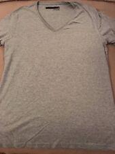 Cotton On V-neck T-shirt NWOT light heather gray with thin trim size medium