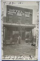 Coca Cola 1910 RPPC Real Photo Post Card Early Signs Hotel Segor RR Detroit MI