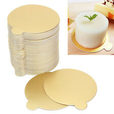 200pcs Round Mousse Cake Board Bulk Golden Paper Base Wedding Party Decor 8*8CM