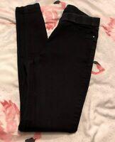 TU Black Distressed Jegging Jeans Size 10 Short