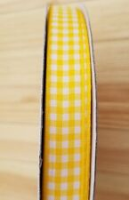 "Yellow Gingham Ribbon 5/8"" 100 yds; Checked Ribbon; Baby Shower Ribbon; Crafts"
