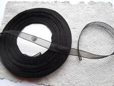 Reel Organza Ribbon ~ Black ~ 10mm