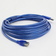 LUXURY Blue 5M USB 2.0 Male to Female Extend Extention Cable SD