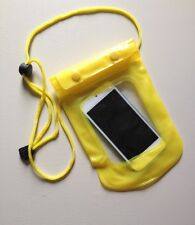 Waterproof YELLOW Pouch for Phone / Camera / Keys / Money Dry Bag Sports Beach