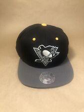 Pittsburgh Penguins SNAPBACK MITCHELL NESS SCRIPT CAP Hat NHL Hockey