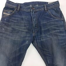Diesel KROOLEY Mens Jeans W34 L31 Dark Blue Slim Fit Tapered High Rise