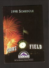 Colorado Rockies--Coors Field--1998 Pocket Schedule--Dodge Durango
