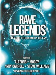 Rave Legends 4 x CD Pack OLDSKOOL RAVE RETRO 90s ALTERN8 MOGGY STEVE WILLIAMS