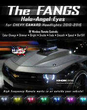 Chevy Camaro FANGS MultiColor LED Halo-Angel Eyes Rings kit and RF REMOTE Buy It