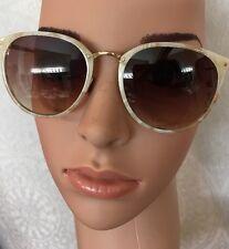 Linda Farrow Sunglasses Oval 18–22k Over Titanium Gold Frame Cat3