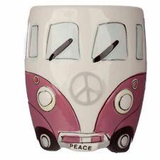 VOLKSWAGEN VW CAMPER VAN NOVELTY PINK COFFEE MUG CUP NEW IN GIFT BOX