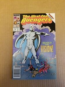 WEST COAST AVENGERS #45 1ST WHITE VISION WANDA VISION NEWSSTAND  NEVER PRESSED