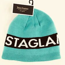 Juicy Couture Black Label Instaglam Beanie Turquoise with Warm Fleece Lining