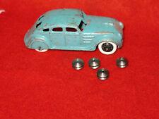 Dinky Toy Pre-War Smooth Wheel Hubs, Steel, Lot of 4