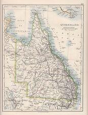 1921 MAP ~ QUEENSLAND AUSTRALIA ~ CAPE OF YORK PENINSULA WELLESLEY ISLANDS