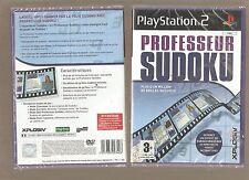 PROFESSEUR SUDOKU !!! + d'un Million de Grilles sur PS 2. Jeu NEUF Blister