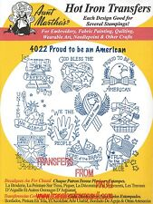 Proud to be an American Aunt Martha's Embroidery Transfer #4022