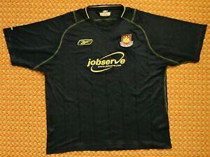 2003 - 2004 West Ham United, Away shirt by Reebok, Mens Small - Medium, Camiseta