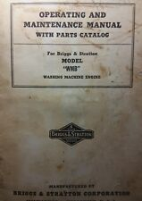 Briggs & Stratton WMB Hit Miss Engine Owner Parts Service Repair Manual 38pg Gas