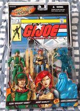 G.I. Joe ARAH Comic 3 pack  Cobra Comm Breaker Scarlett MOSC Lot Vintage G1 2005