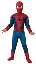 BOYS SPIDERMAN MOVIE 2 SUPER HERO MUSCLE CHEST COSTUME DRESS SIZE L RU620045