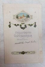 AK Neujahrskarte geprägt verschneites Dorf gel. 1912