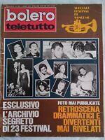 Bolero 1400 segreti Sanremo Corrado Ottavia Piccolo Presley Wynberg Streisand