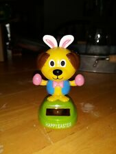 Solar Powered Happy Easter Dancing Dog Toy New