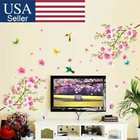 Cherry Blossom Wall Decal Pink Flower Tree Wall Sticker Home Nursery Decor DIY