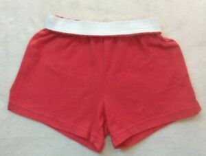 EUC Girls Athletic Cheer Dance Red Rollover Top Shorts Size Medium 8 by Chasse