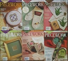 Piecework magazines 2002 Lot of 6  needlework And History Hand And Hand
